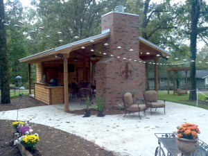 Outdoor kitchen remodel Canton, MS