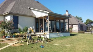 Lake Caroline Screened Porch Addition